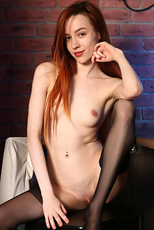 Sherice in After Hours by Volkov indoor redhead brown eyes petite small tits shaved