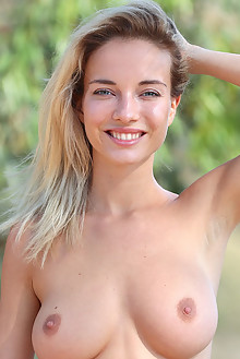 Danica Jewels in Dreamy by Dave Lee outdoor sunny blonde blue eyes boobies busty shaved tight pussy