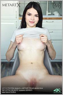 Kinsley in My Little Secrets by Flora indoor brunette boobie...