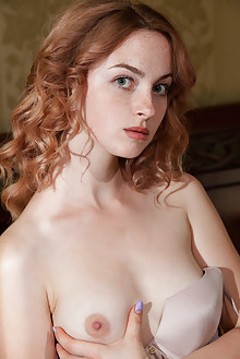 Jamie Joi in Ladema by Albert Varin indoor redhead green eyes boobies shaved hips ass pussy custom latest