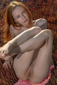 Olivia I in Olivia I by Stanislav Borovec outdoor sunny redhead boobies shaved