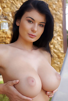 Lucy Li in Diaca by Erro outdoor brunette black hair green eyes boobies busty trimmed hairy tight pinky pussy latest