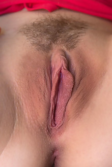 Arya in Love Rug by DeltaGamma indoor blonde hazel eyes small tits hairy trimmed pussy