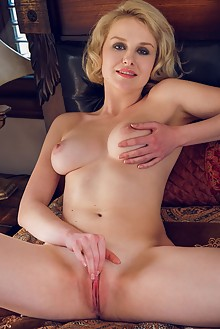 Kery in My New Lingerie by Alex Lynn indoor blonde boobies shaved pussy