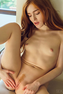 Jia Lissa in Aleyn by Alex Lynn indoor redhead green eyes small tits trimmed pussy ass fingering