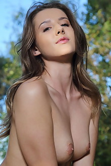 Sybil A in Sublime by Leonardo outdoor woods sunny brunette green eyes boobies shaved tight pussy custom