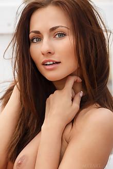 Michaela Isizzu in Hadde by Luca Helios outdoor brunette blue eyes tanned boobies trimmed pussy custom latest