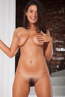 Sanita in Bellisima by Ron Offlin indoor brunette brown eyes tanned boobies busty hairy unshaven pussy ass tight latest