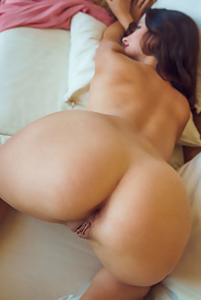 Jasmine Jazz in Pretty in Pastel by Alex Lynn indoor brunette hazel eyes shaved pussy ass hips