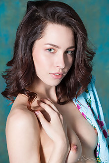 Alyse in Stylish Tattoo by Antonio Clemens indoor brunette blue eyes small tits shaved latest