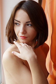 Una Piccola in Marsien by Rylsky indoor brunette brown eyes small tits shaved tight pinky pussy ass latest