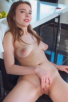 Elvera in Candy Girl by Alex Lynn indoor brunette boobiers shaved pussy