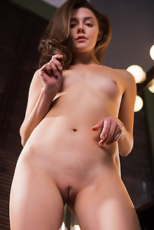 Presenting Tina Reese by Karl Sirmi indoor brunette blue eyes shaved ass pussy custom