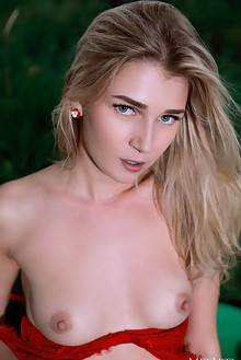 Christine Cardo in Tart by Matiss outdoor woods blonde green...