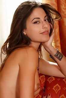 Lorena B in Beaded by Luca Helios indoor brunette hazel eyes...