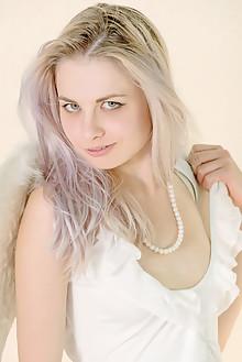 Presenting Egida by Stanislav Borovec indoor blonde blue eyes shaved pussy labia