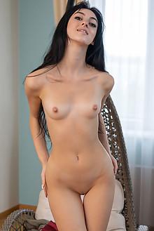 Corinna in Glider by Tora Ness indoor brunette black hair br...