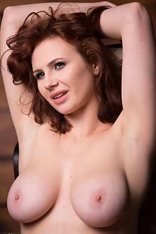 Presenting Aphrodita by Marlene indoor redhead blue eyes boobies busty shaved pussy latest