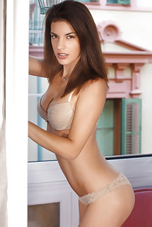 Candice Luka in Mazenia by Luca Helios indoor brunette brown...
