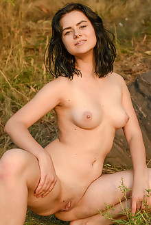 Presenting Silver Leen by Stanislav Borovec outdoor river sunny brunette boobies tattoo shaved pussy