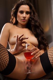 Mara Blake in Sensual Promise by Karl Sirmi indoor brunette green eyes shaved pussy custom
