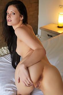 Anie Darling in My Darling by Erro indoor brunette black hair hazel eyes shaved pussy custom