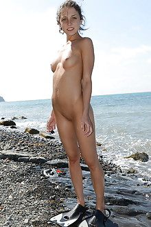 Katoa in Summer Swim by Paramonov nensi b outdoor brunette blue eyes sunny petite wet ocean sea beach shaved tight pussy latest