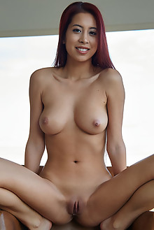 Paula Shy in Asian Fusion by Erro indoor redhead brown eyes boobies shaved pussy tight ass hips custom