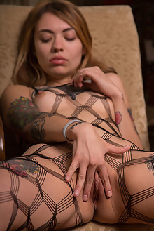 Marcella Lippy in Fishnet by Marlene indoor blonde shaved pussy latest