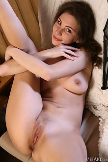 Galina A in High Tea by Volkov indoor brunette blue eyes boo...