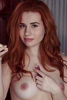 nicole la cray santhy albert varin indoor redhead brown boobies shaved ass pussy custom