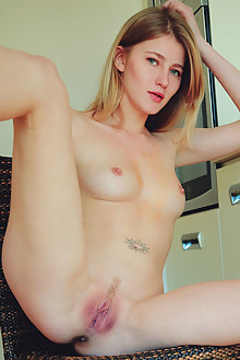 Mila I in Linpa by Arkisi indoor blonde blue eyes shaved ass pussy latest