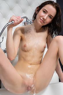 Erna in Holiday Bath by Tora Ness indoor brunette blue eyes ...
