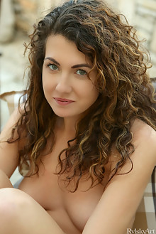 Gia Ren in Selskia by Rylsky outdoor sunny brunette shaved p...