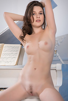 Serena Wood in Musical Fantasy by Nudero indoor brunette blue eyes boobies trimmed pussy custom