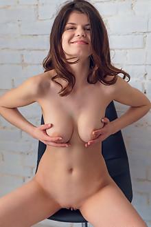 Davina in Model Test Episode 9 by Alex Lynn indoor brunette brown eyes boobies shaved pussy custom