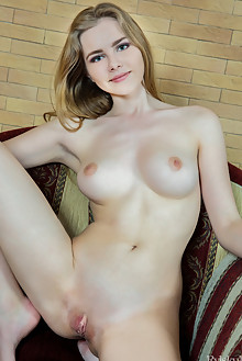 Marit in Rander by Rylsky indoor blonde blue eyes boobies shaved pinky pussy labia ass custom latest