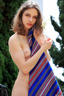 Clarice in Corabaia by Rylsky outdoor brunette blue eyes small tits sunny shaved