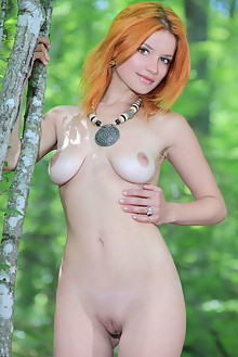 Violla A in Finale by Matiss outdoor woods sunny redhead hazel eyes boobies shaved pussy
