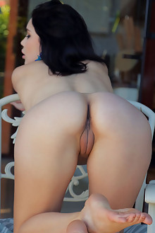 Malena in Pick Me Up by Arkisi indoor brunette black hair brown eyes boobies shaved pussy ass custom