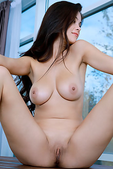 Martina Mink in Skin Tight by Matiss indoor brunette blue eyes boobies busty shaved pussy