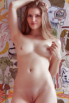 Bretona in Satyma by Albert Varin indoor blonde green eyes hips shaved tight pinky pussy ass latest