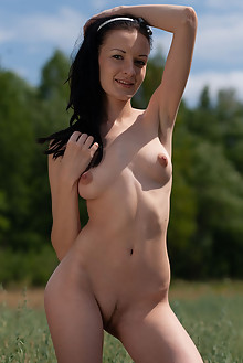 Sasha S in In The Tall Grass by Thierry Murrell outdoor sunn...