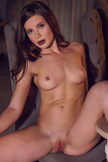 Presenting Lika Dolce by Alex Lynn indoor brunette blue eyes shaved pussy ass halloween