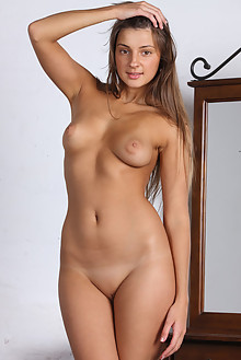 Melena A in Xenata by Alex Sironi indoor brunette brown eyes boobies shaved tight tightest pussy ass