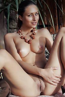 Yarina A in Finize by Arkisi indoor brunette blue eyes boobi...