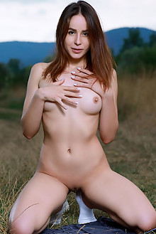 Annamalia in Take It Slow by Matiss outdoor brunette brown eyes boobies shaved pussy socks