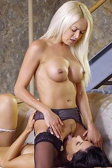 alexa tomas lena love expressive alis locanta indoor brunette blonde pussy lick fingering