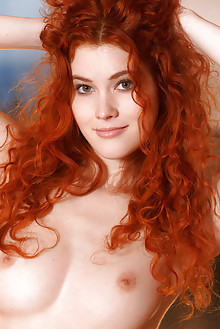 Adel C in Norna by Luca Helios indoor redhead hazel eyes curly hair boobies shaved tight pussy custom latest