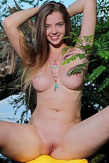Kay J in River Trip by Leonardo outdoor sunny river blonde b...